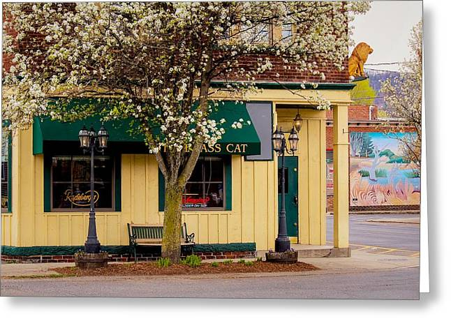 Brass Cat Pub Easthampton Greeting Card