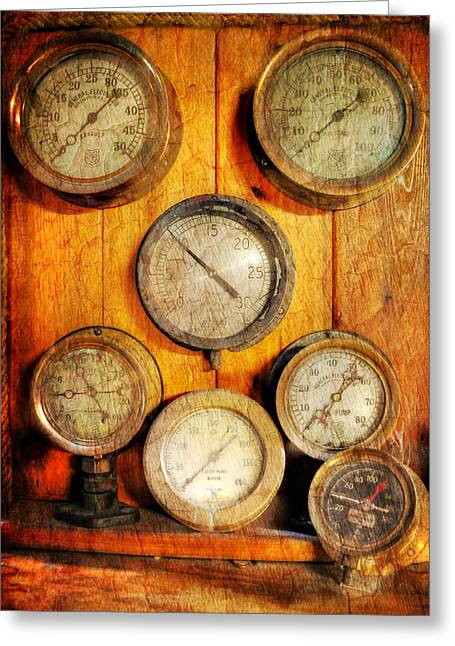 Gauge Greeting Cards - Brass Gauge Collection Greeting Card by Paul Ward