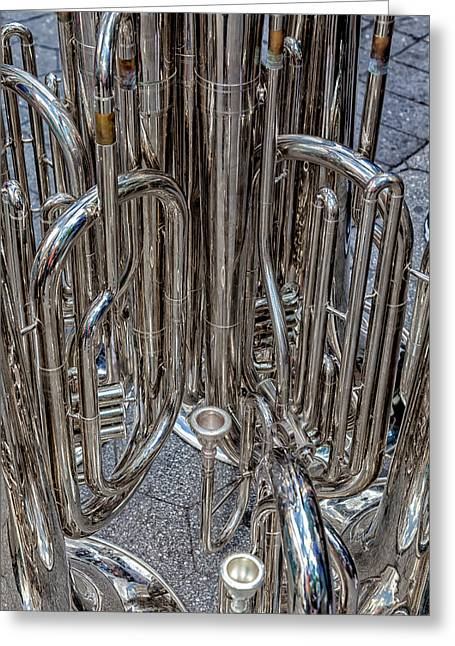 Brass Instruments Greeting Card
