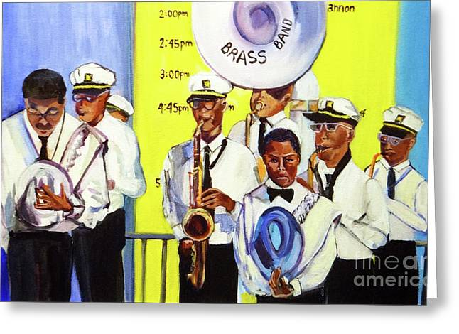 Brass Of  Class New Orleans Greeting Card