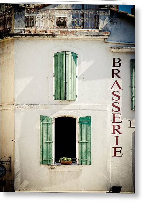 Greeting Card featuring the photograph Brasserie by Jason Smith