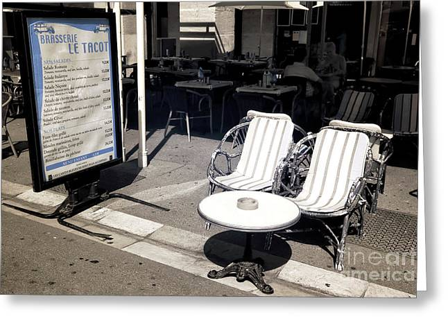 Brasserie Le Tacot Greeting Card by John Rizzuto