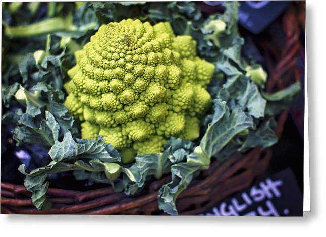 Brassica Oleracea Greeting Card by Heather Applegate
