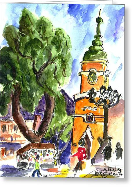 Bratislava Greeting Card by Albert Fendig