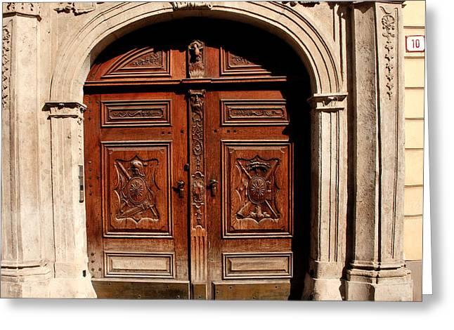 Bratislava Doors Greeting Card