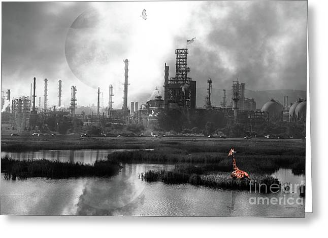 Brave New World 7d10358 V3 Bw Greeting Card by Wingsdomain Art and Photography
