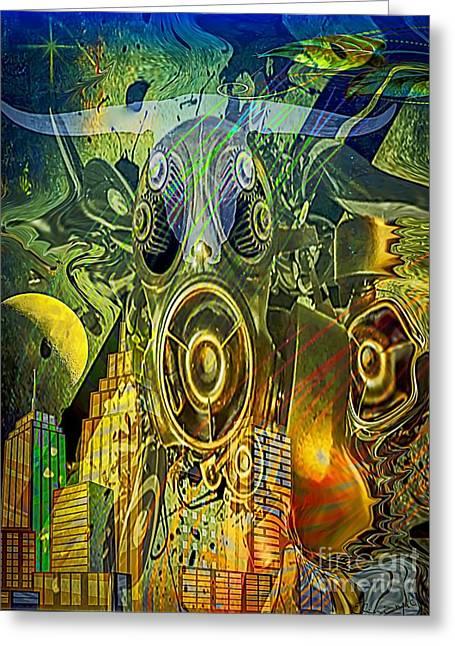 Greeting Card featuring the digital art Brave New World by Eleni Mac Synodinos
