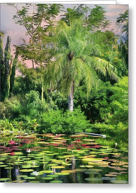 Brazilian Garden Greeting Card by Lori Deiter