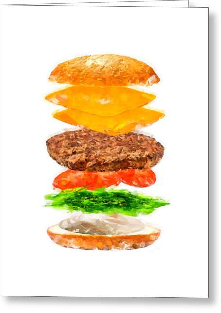 Brazilian Salad Cheeseburger Greeting Card