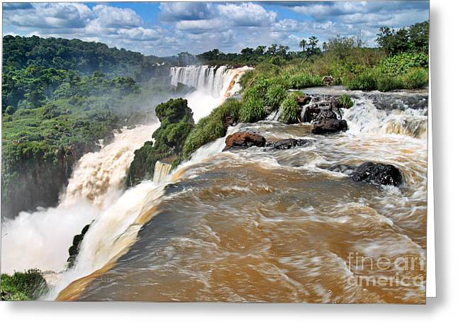 Greeting Card featuring the photograph Brazil,iguazu Falls, by Juergen Held