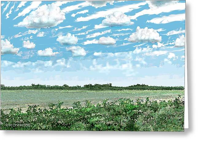 Brazoria County Field Greeting Card