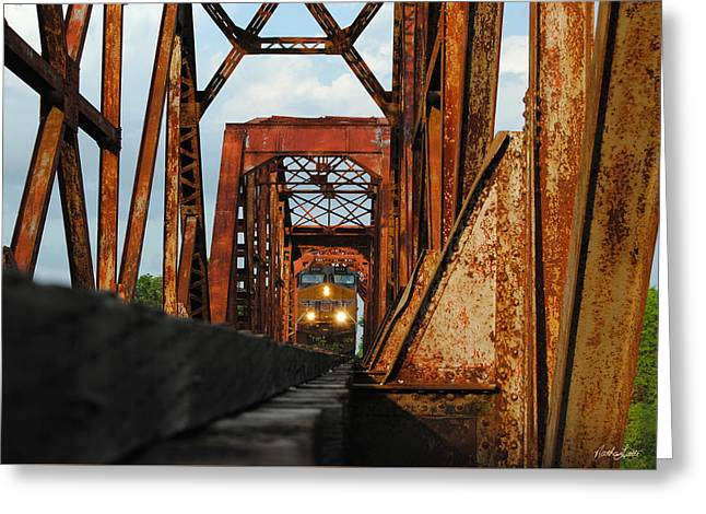 Brazos River Railroad Bridge Greeting Card