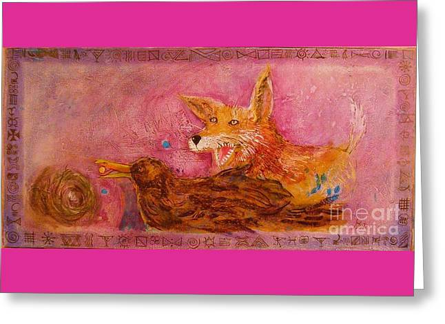 Bre Fox And Bre Crow Greeting Card