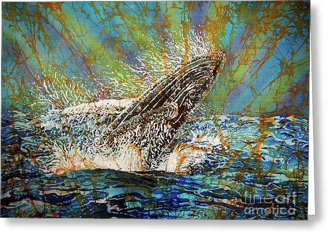 Breach In The Bay Greeting Card