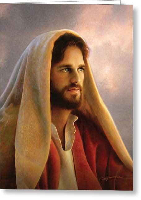 Eyes Paintings Greeting Cards - Bread of Life Greeting Card by Greg Olsen