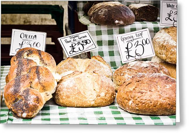 Bread Stall Greeting Card by Tom Gowanlock