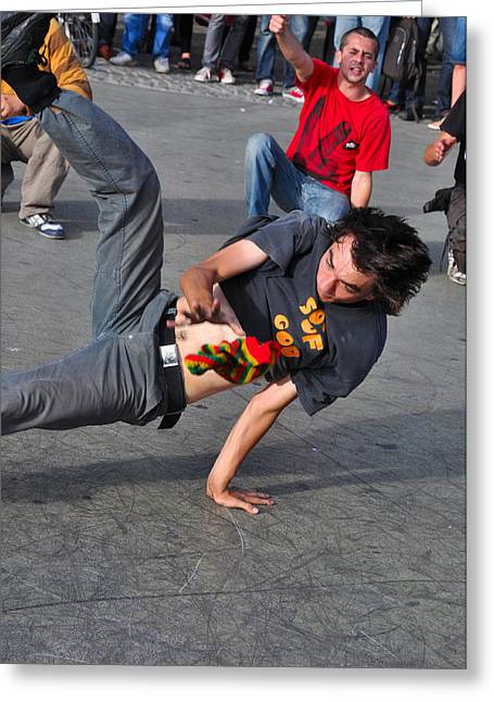 Break Dancer - Color Greeting Card by Noah Cole
