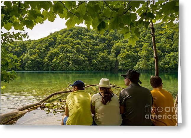 Break From The Beauties, Plitvice Lakes, Croatia Greeting Card