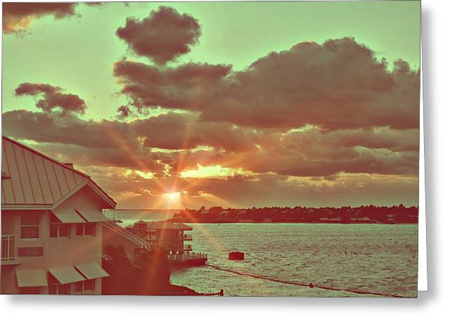 Island Break Of Day Greeting Card by JAMART Photography