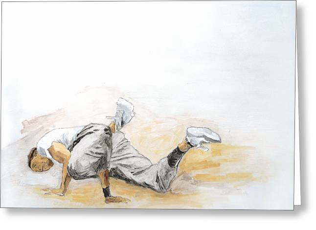 Breakdance 4 / Part Of Dubai Street Festival Collection Greeting Card by Jani Heinonen