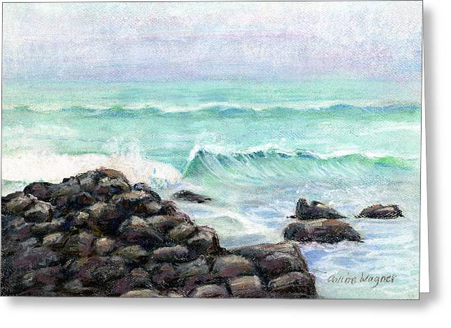 Waves Pastels Greeting Cards - Breakers Greeting Card by Arline Wagner
