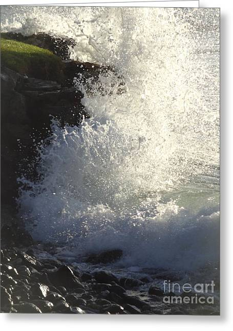 Breakers Greeting Card by Fred Wilson