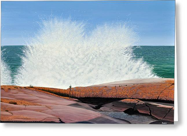Breakers On Georgian Bay Greeting Card
