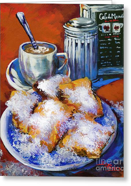 Breakfast At Cafe Du Monde Greeting Card