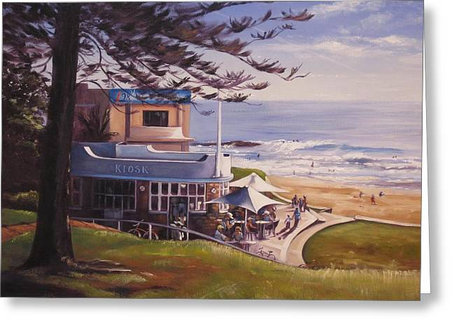 Breakfast At The Beach Greeting Card by Kathy  Karas