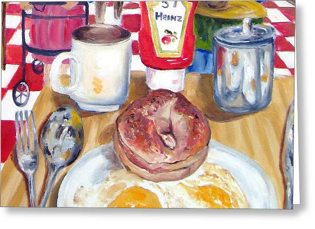Breakfast At The Deli Greeting Card