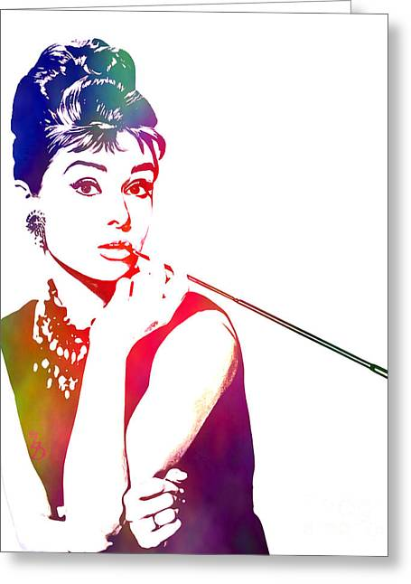 Breakfast At Tiffany's Greeting Card by The DigArtisT