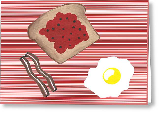Breakfast First Greeting Card