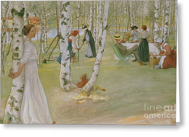 Breakfast In The Open, 1910 Greeting Card