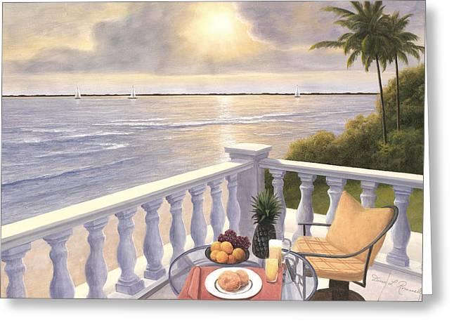 Breakfast On The Veranda Greeting Card