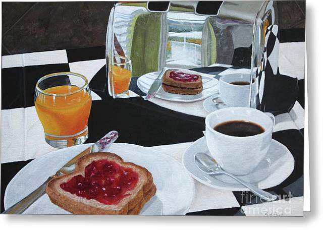 Breakfast Reflections Greeting Card