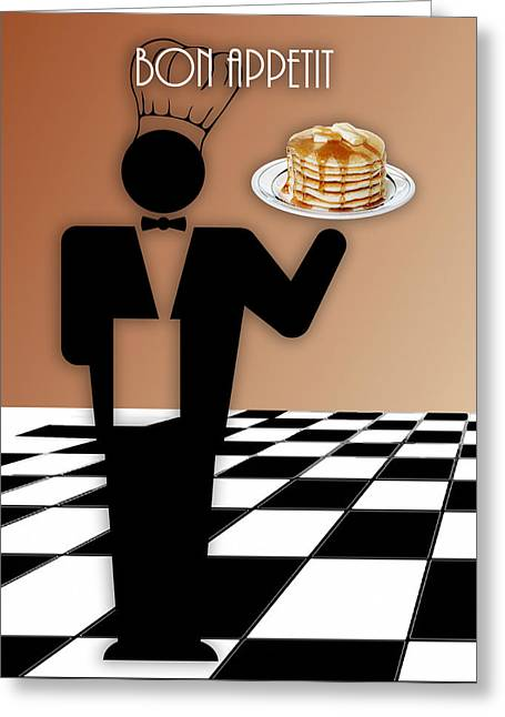 Breakfast Served Greeting Card by Marvin Blaine