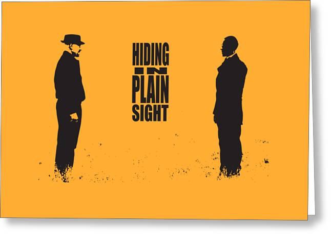 Breaking Bad - Amc - Heisenberg - Hiding In Plain Sight - Walter White - Silhoette Greeting Card by Paul Telling