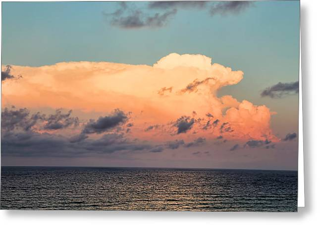 Breaking Dawn Over Gulf Greeting Card by Theresa Campbell