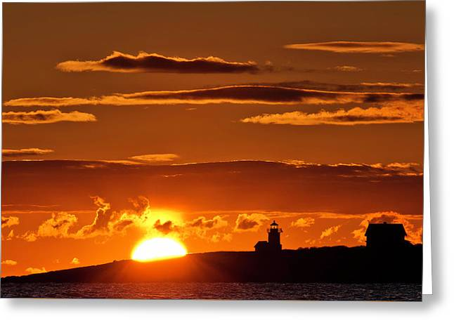 Breaking Dawn Over Straitsmouth Greeting Card