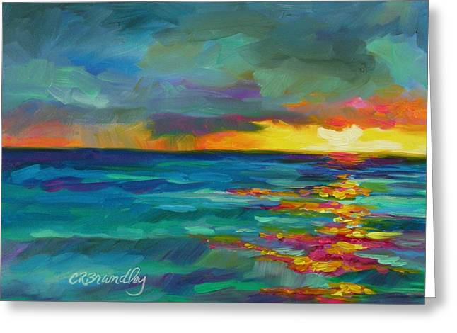 Greeting Card featuring the painting Breaking Light by Chris Brandley