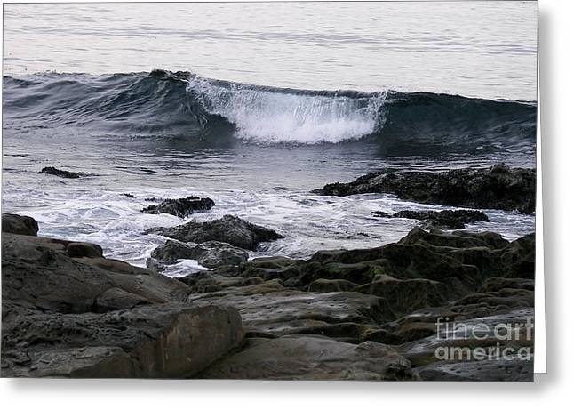 Greeting Card featuring the photograph Breaking Waves by Carol  Bradley