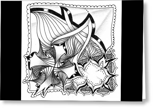 Greeting Card featuring the drawing Breakthrough by Jan Steinle