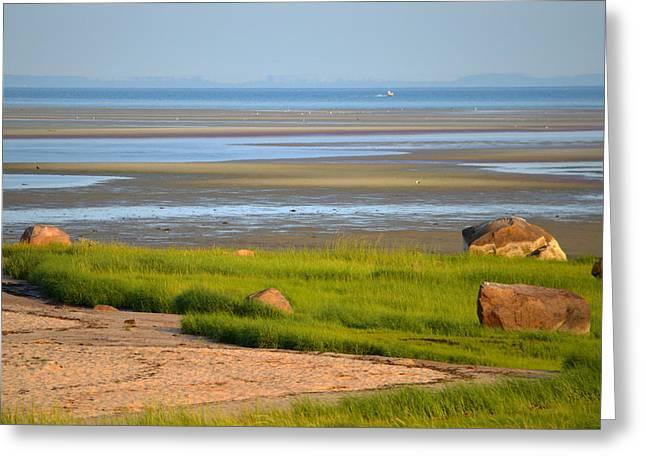 Breakwater Beach At Low Tide Greeting Card