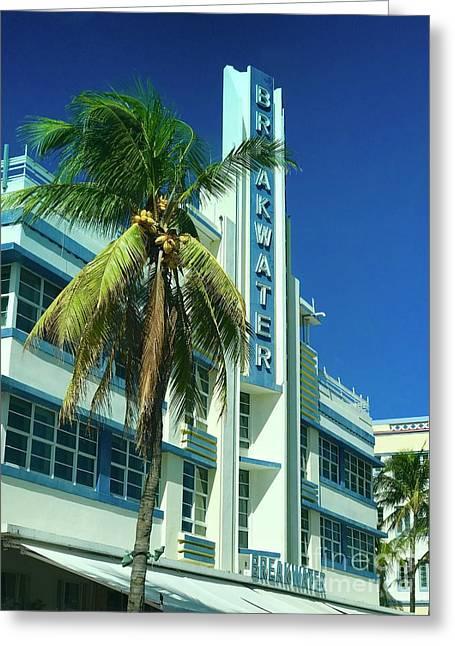 Breakwater Miami Beach Greeting Card
