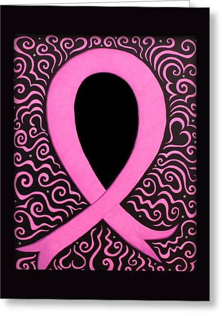 Breast Cancer Awareness Ribbon Greeting Card