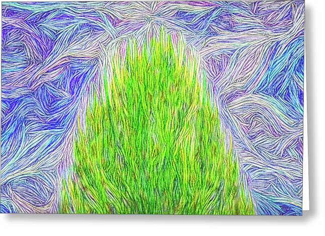 Breath Of Life - Flora Abstract Greeting Card by Joel Bruce Wallach