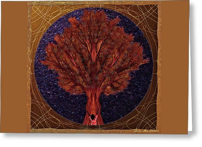 Greeting Card featuring the digital art Breath Spirit Life by Iowan Stone-Flowers