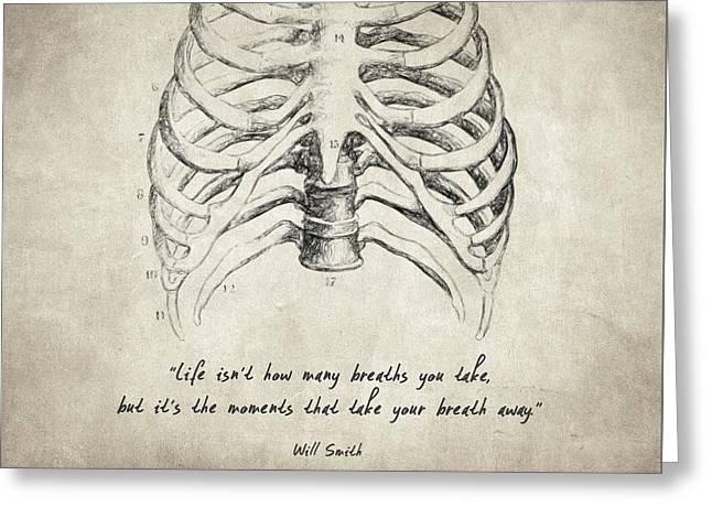 Breathe Quote Greeting Card by Taylan Apukovska