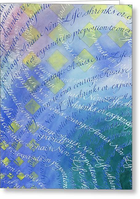 Breathe Greeting Card by Sid Freeman