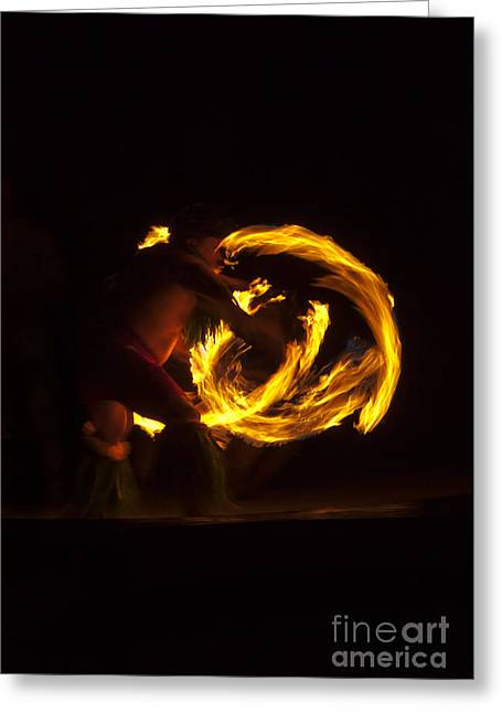 Breathing Fire Greeting Card by Mike  Dawson